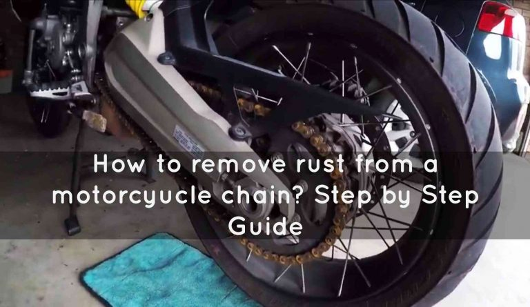 how to remove rust from a motorcycle chain?