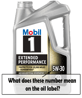 What does numbers mean on engine oil?