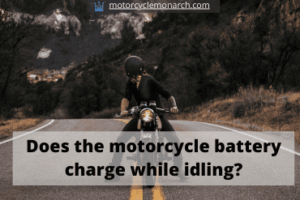 Does motorcycle battery charge while idling?
