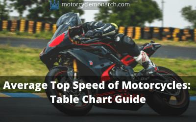 Average motorcycle top speed
